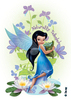 Disney Glitter Tattoo Fee blau