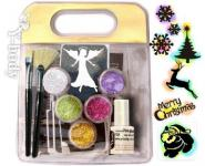 Glitter Tattoo Set Weihnachten